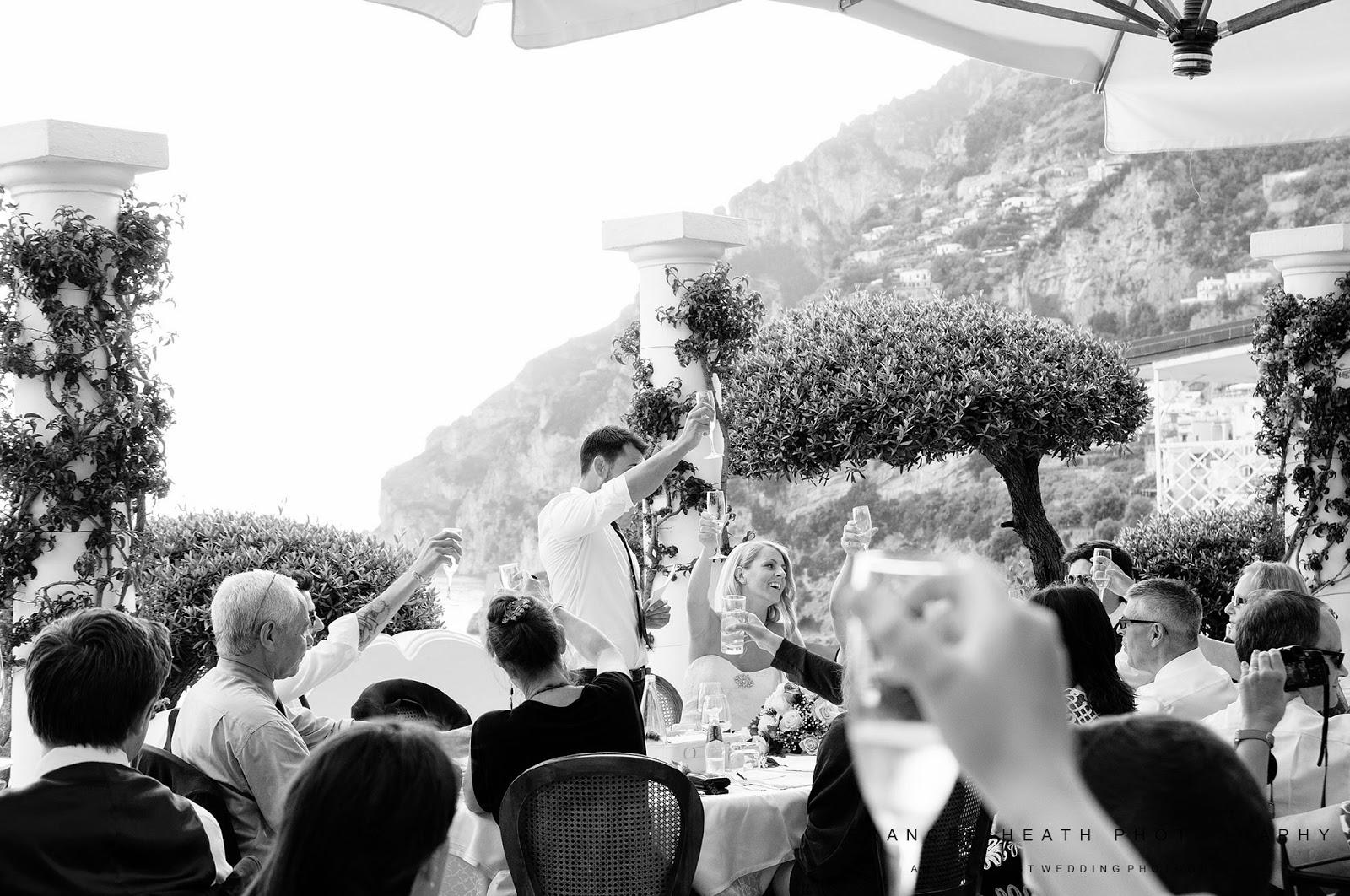 Wedding reception at Hotel Marincanto