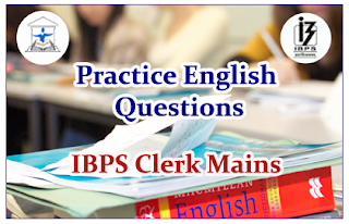 Practice English Questions (Cloze Test) for Clerical Mains