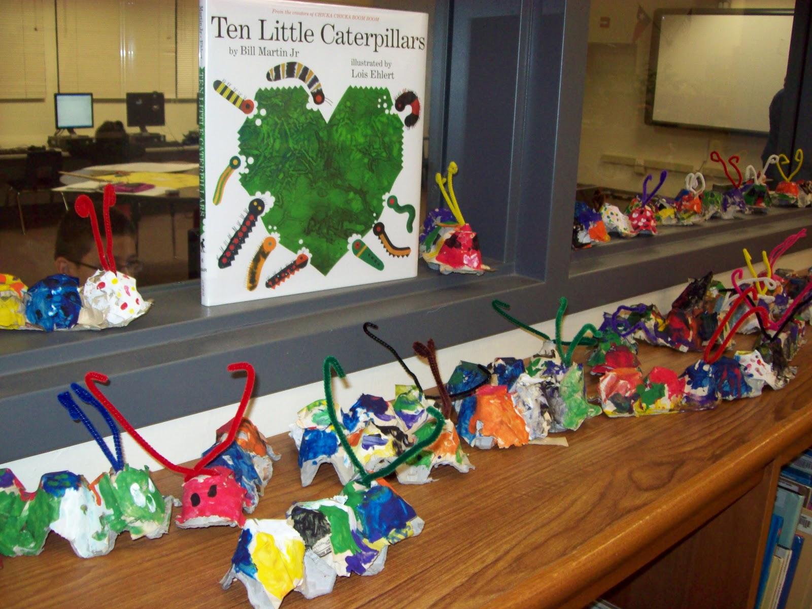 Chalk Talk A Kindergarten Blog Ten Little Caterpillars