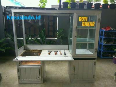 Harga Gerobak Roti Bakar Aluminium Motor