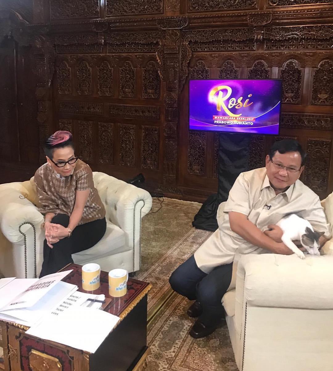 Prabowo Pelihara Hewan Kesayangan Rasulullah, Kenalkan Namanya Bobi