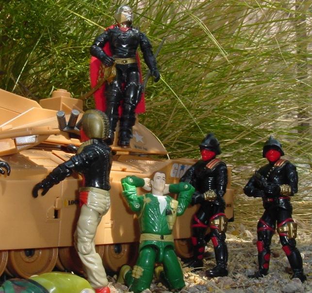 1988 Destro, Iron Grenadier, Ferrett, 1985 Mauler, 2004 Comic Pack Steeler