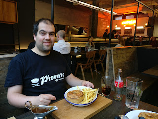 Pierateer Rob visiting Pieminister Birmingham