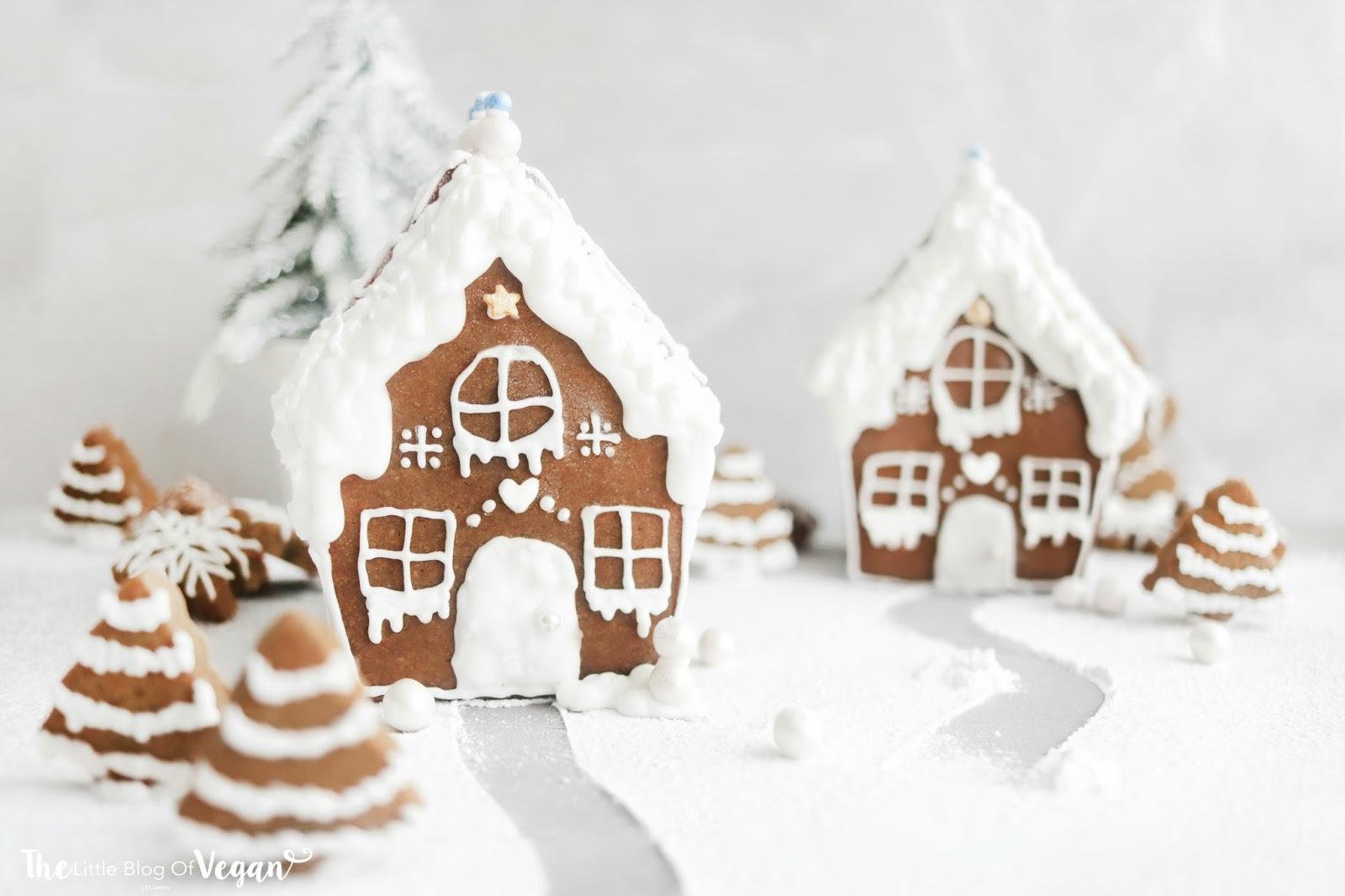 simple vegan gingerbread house recipe the little blog of vegan. Black Bedroom Furniture Sets. Home Design Ideas
