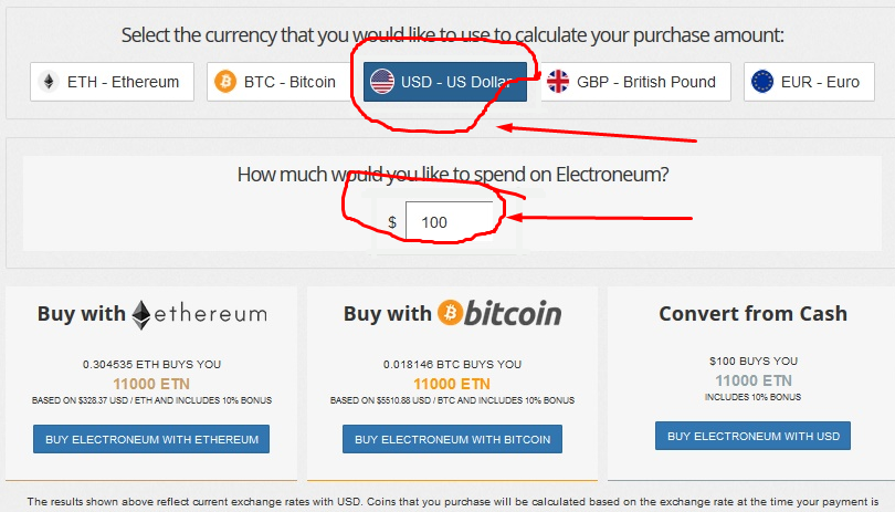 buy electroneum with usd
