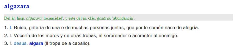 Algazara - significado