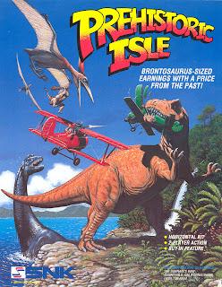 Prehistoric Isle in 1930 arcade game portable flyer