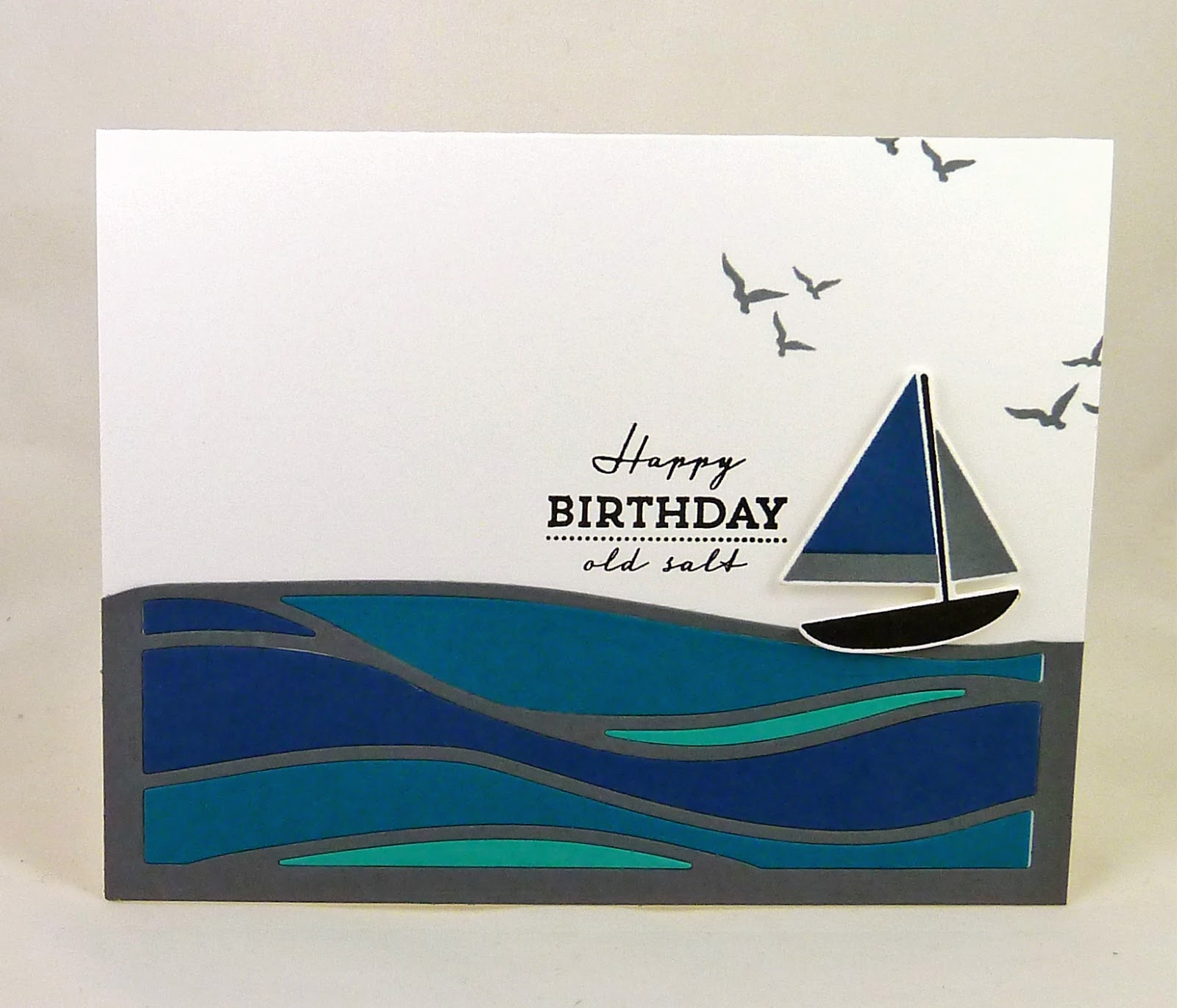 Cards-by-the-Sea: ColourQ #331....Happy Birthday Old Salt