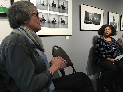 Sara Harley speaks at the Picturing Health Exhibit, Viewpoint Gallery