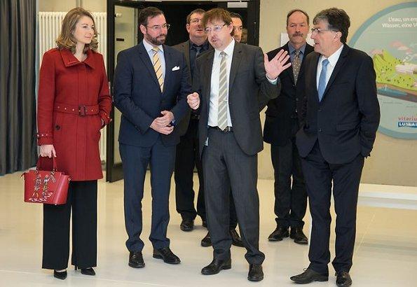 Hereditary Grand Duchess Stephanie and Hereditary Grand Duke Guillaume visited Luxlait