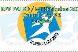 RPP PAI SD / MI Kurikulum 2013 Kelas 1 2 3 4 5 6 Lengkap