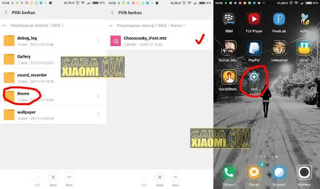 Cara Termudah Ganti Font di Semua Xiaomi MIUI 8 belum di ROOT
