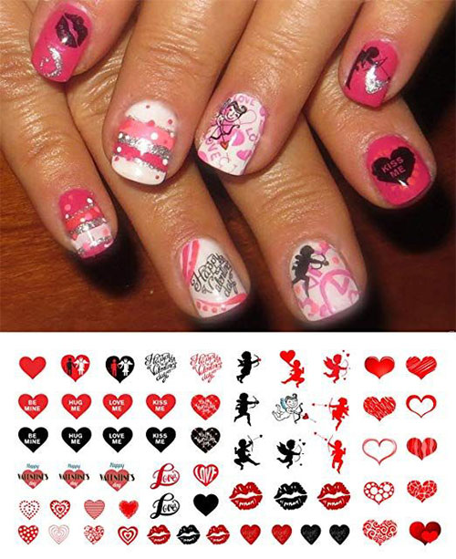 15 Step By Step Valentine's Day Nail Art Tutorials For Learners 2019