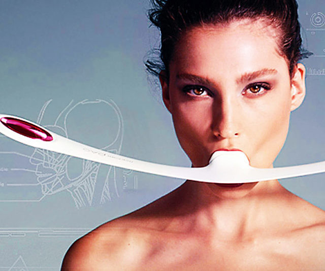 Help maintain a more youthful appearance without going under the knife by using this facial fitness device. Although it may look a bit silly, it's designed to tone and firm weak facial muscles with just two short 30 second sessions per day.