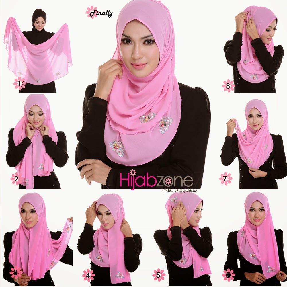 4 Tutorial Cara Memakai Hijab Segi Tiga Untuk Anak Muda Cantik Dan