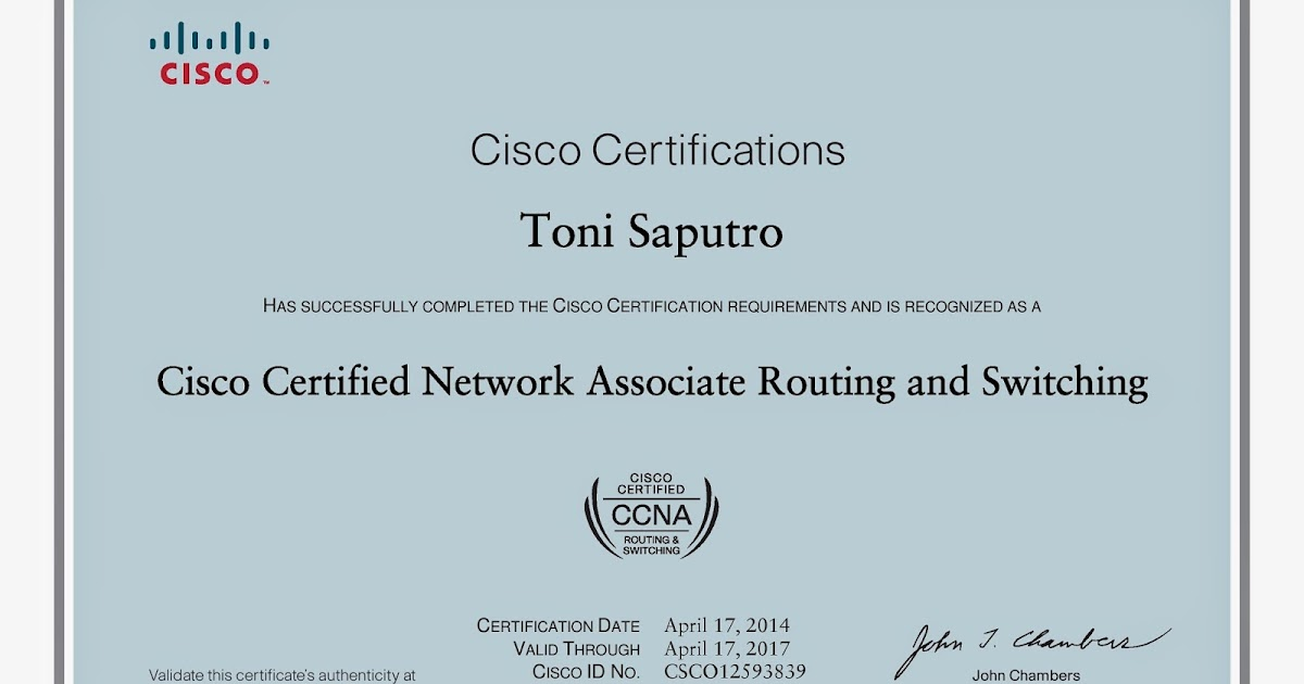 Putra Jatim: CCNA RS - My First Certification