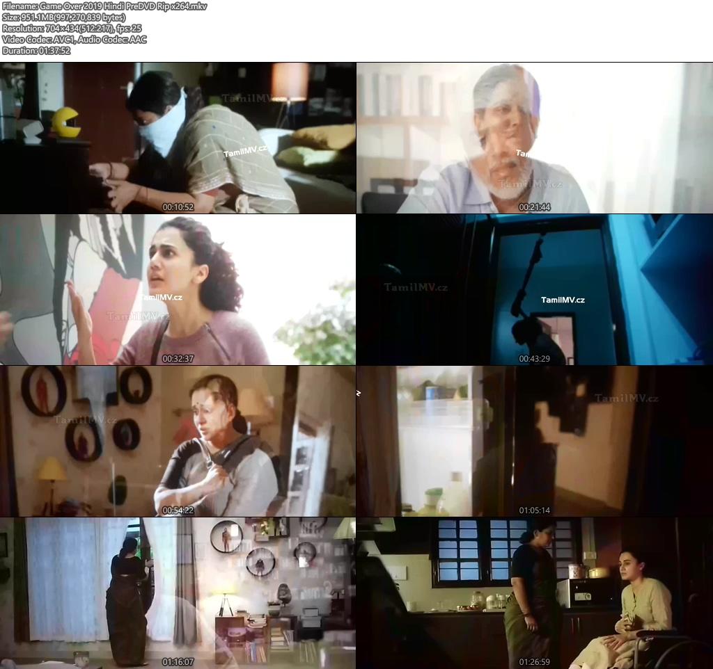 Game Over 2019 Hindi PreDVD Rip x264 | 480p 300MB | 100MB HEVC Screenshot