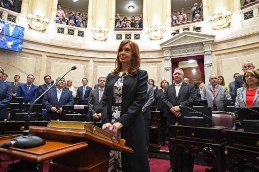 CFK presenta su bloque en el Senado argentino