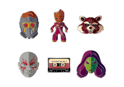 Guardians of the Galaxy Vol 2. Portrait Enamel Pins by Tom Whalen x Mondo x Marvel