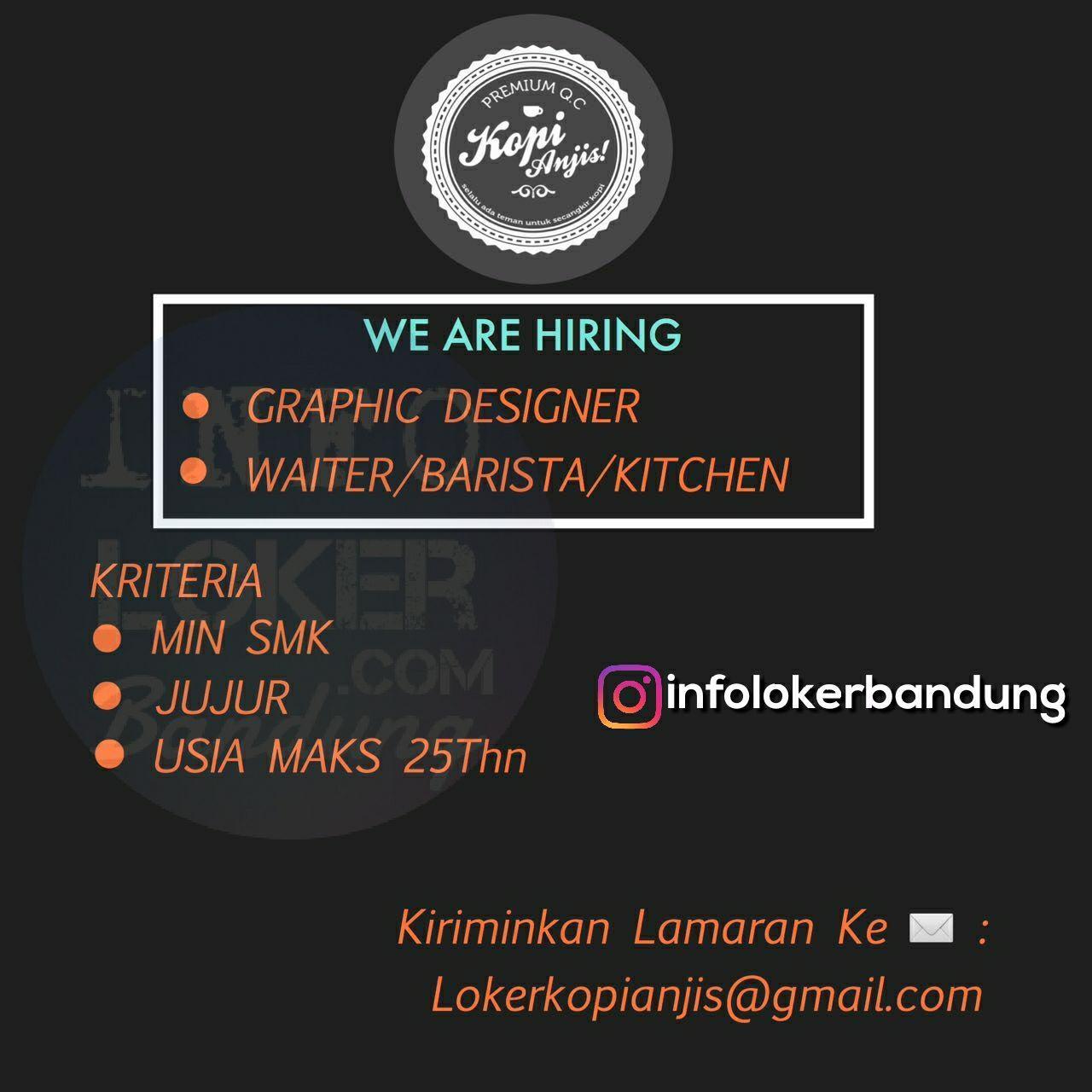 Lowongan Kerja Kopi Anjis Bandung Tahap II  November 2017