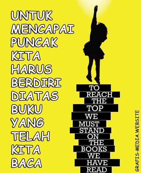 12 Contoh Poster Dan Slogan Ajakan Membaca Buku Kreatif