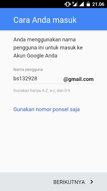 Membuat akun Google Tanpa Nomor HP