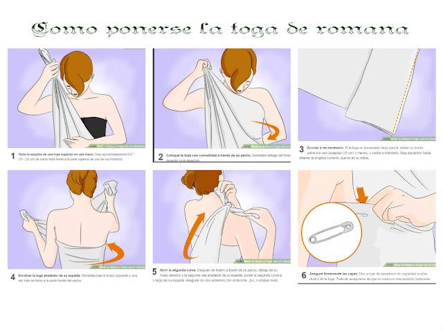 como ponerse una toga romana