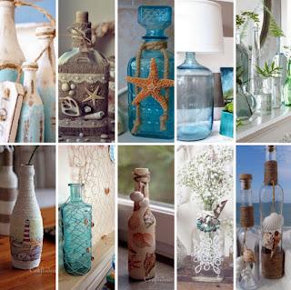 Ιδέες καλοκαιρινής διακόσμησης με γυάλινα μπουκάλια