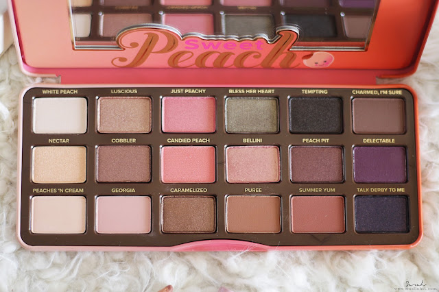 TOO FACED SWEET PEACH EYESHADOW PALETTE review; TOO FACED SWEET PEACH EYESHADOW PALETTE swatches; TOO FACED SWEET PEACH EYESHADOW PALETTE makeup review; TOO FACED SWEET PEACH EYESHADOW PALETTE where to buy; TOO FACED SWEET PEACH EYESHADOW PALETTE how much; TOO FACED SWEET PEACH EYESHADOW PALETTE beauty review; TOO FACED SWEET PEACH EYESHADOW PALETTE before and after review; TOO FACED SWEET PEACH EYESHADOW PALETTE makeup full review; beauty; beauty blogger; beauty review; malaysia beauty digital magazine; asia beauty digital magazine; asia beauty portal; singapore beauty digital magazine; singapore beauty portal;