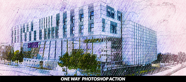 One Way Photoshop Action