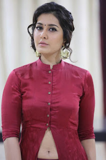Actress Rashi Khanna Stills in Red Dress at Bahar Cafe Restaurant Launch  0033