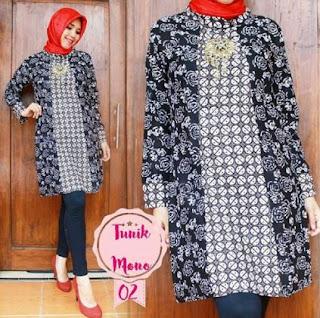 Baju tunik batik cantik