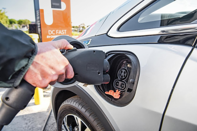 2019 Chevrolet Bolt EV at a DC fast charging station
