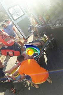 Acidente de moto entre Nova Floresta e Cuité na tarde desta segunda-feira, 17