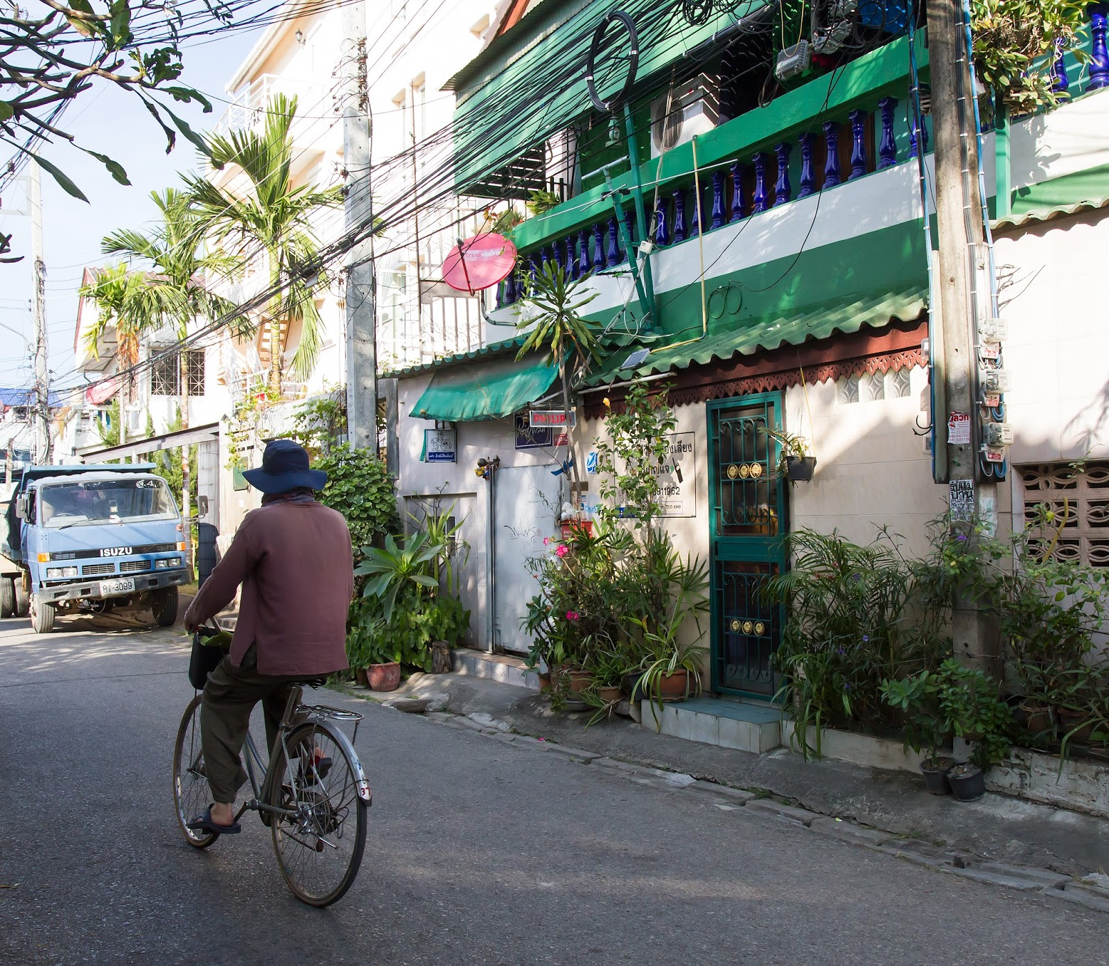 in the backstreets of Chiang Mai's old town