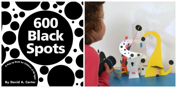 fomentar lectura con cuentos sorprendentes para leer a oscuras: libro pop-up para hacer sombras 600 puntos negros