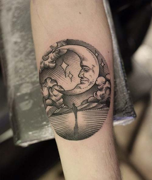 ay dövmeleri moon tattoos 5