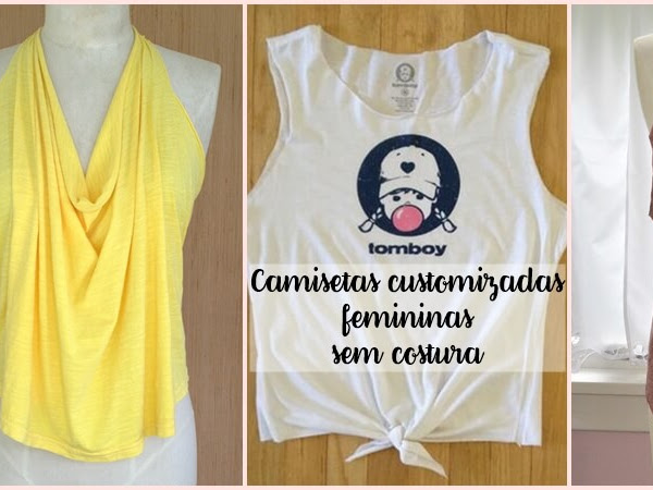 Camisetas customizadas femininas sem costura