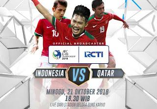 Susunan Pemain Indonesia vs Qatar