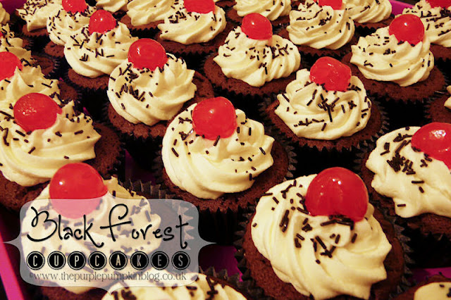Black Forest Cupcakes | The Purple Pumpkin Blog