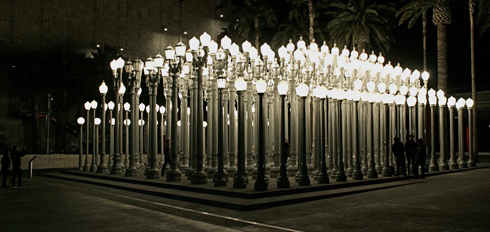 Urban Light Street Lamps Lacma Los Angeles