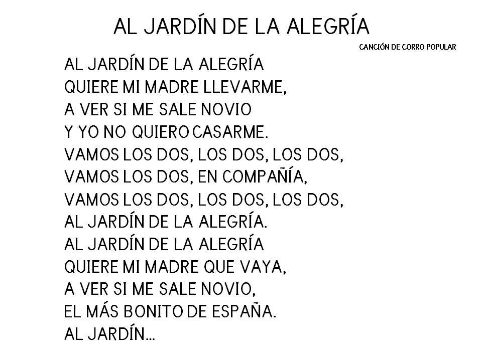 Cartilla de lectura infantil digital al jard n de la for Cancion el jardin de la alegria