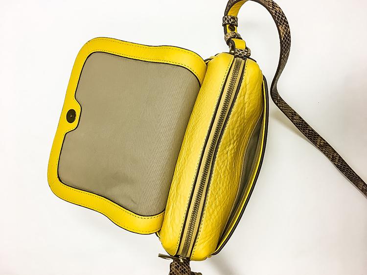 6560132c0c4e Review  J. Crew Signet Bag vs. Signet Flap Bag - Elle Blogs