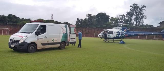 BORRAZÓPOLIS - Helicóptero faz duas transferências em um único dia