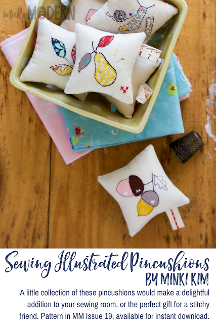 Make Modern Issue 19 Sewing Illustrated Pincushions Minki Kim