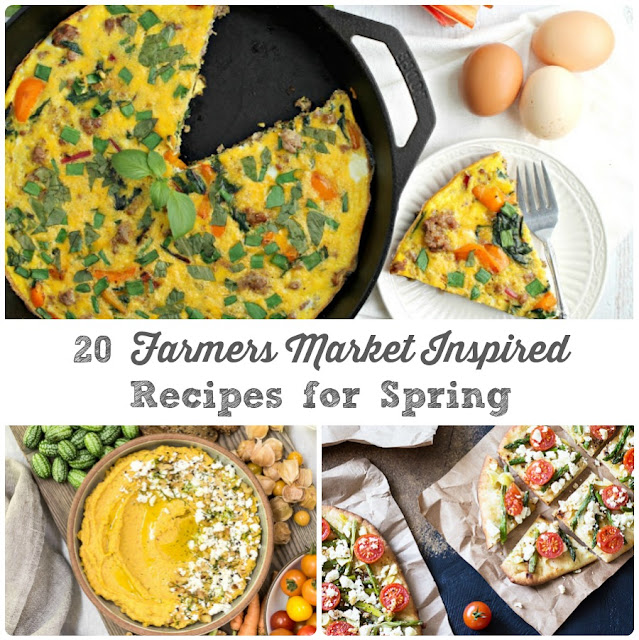 From breakfast recipes to appetizers to desserts & everything else in between, these 20 Farmers Market Inspired Recipes for Spring will have you racing off to your next local farmers market ASAP.