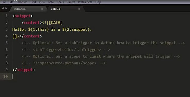 Lupacode - Tutorial Sublime text Snippet 2