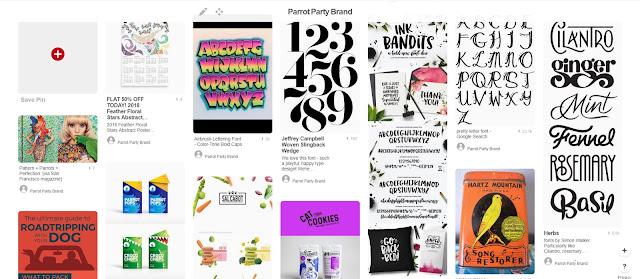 Using Pinterest for branding: typography examples