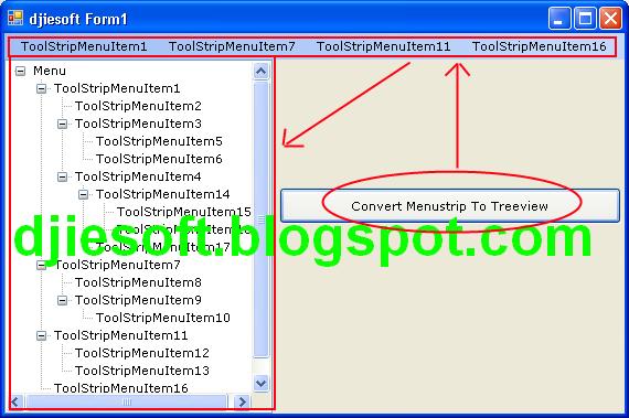Convert MenuStrip To TreeView (Membuat Menu di Treeview Dari