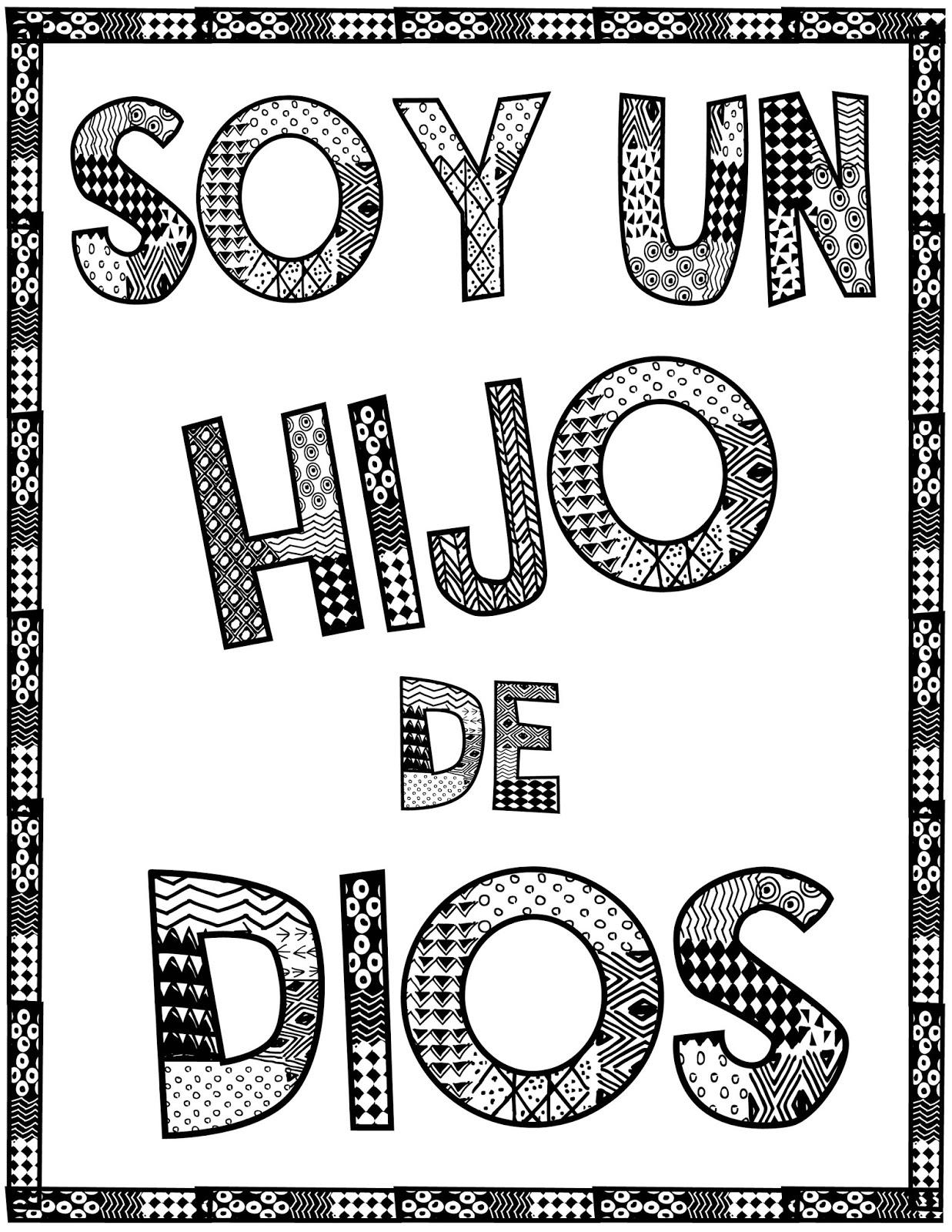 Famoso Soy Un Niño De Dios Para Colorear Lds Molde - Dibujos Para ...